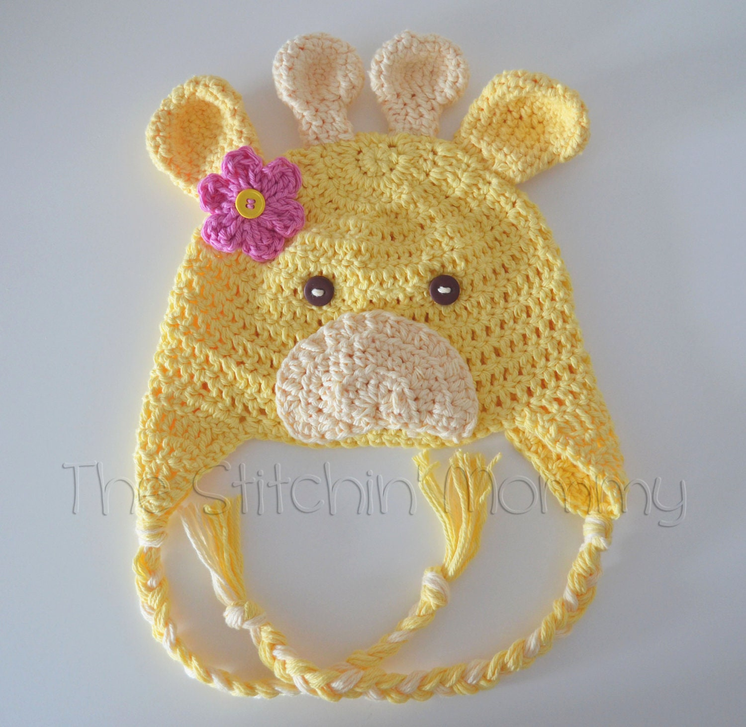 Crochet Giraffe Hat for Girls Various Sizes by ...