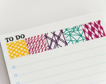 To do list note pad geometric patterns illustration