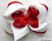 Girls hair bows, Hair bows for girls, Hair bow, Red, White, Hair bows for School uniforms, Headband, Hair accessories for girls