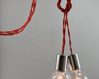 Modern 3 Bulb Cluster Chandelier
