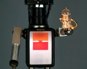 Resserved For Aaron - Flash Six-20 Camera Robot Lamp Assemblage Sculpture