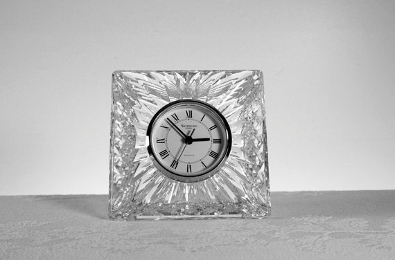 Vintage Waterford Crystal Desk Clock Waterford Crystal