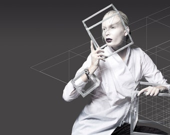 SALE 70% - Three Way to Wear White Shirt
