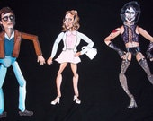 Rocky Horror Picture Show jointed paper dolls --- Brad, Janet and Dr. Frank-n-Furter