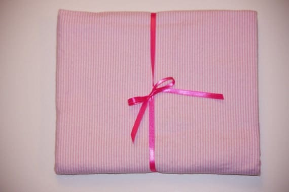 Pink Stripes Baby Receiving Blanket - Extra Large Baby Girl Flannel Cotton Swaddle Blanket 36X42
