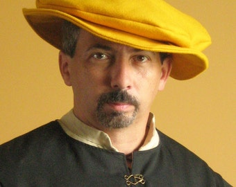 Medieval Celtic Renaissance Tudor Borgias Larp SCA Pancake Classic Hat