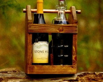 Wine Tote - Wine Carrier - Wine Bottle Holder