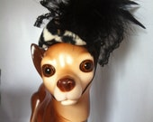 Dog leopard Fascinator by FiercePetFashion