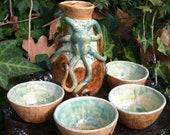 Earthtone Cephalopod Sake Set