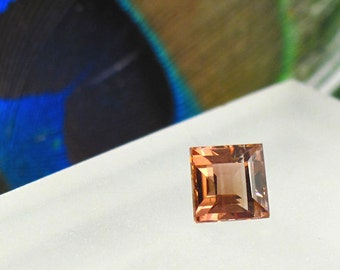 Tourmaline Faceted Square - 5.2 mm Genuine Natural Faceted Gemstone - October Birthstone