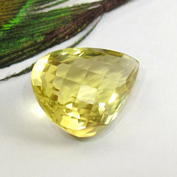 Citrine Faceted Pear 22.5X15.5mm - Genuine Natural Faceted Gemstone - November Birthstone
