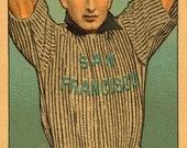 San Francisco Seals - Harry Sutor - Baseball Card Print - 13.5 x 8 inch Print Vintage 1910