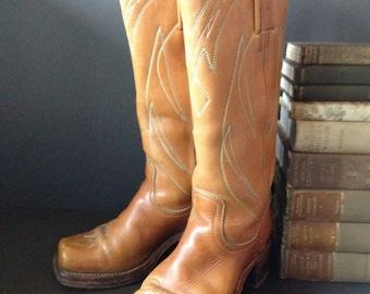Vintage Frye Campus Riding Cowboy Boots // Size 5 // Black Label