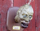 Faux Taxidermy Zombie Trophy Head on Plaque Made to Order