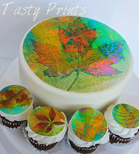 Edible Cake Images Thanksgiving : Items similar to Edible - Couture Thanksgiving - Cake top ...