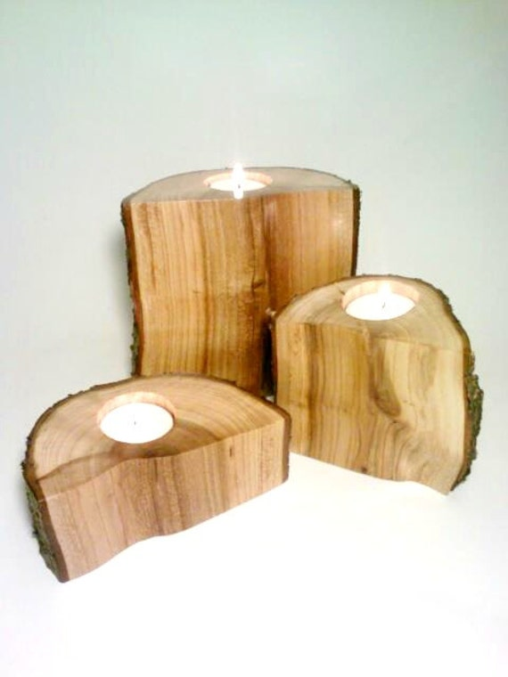 Items similar to log candle holder split