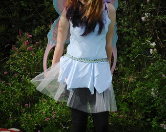 Teen fairy costume, Pale blue fairy dress, Cinderella dress, Ballet dance costume Age 12 - 14