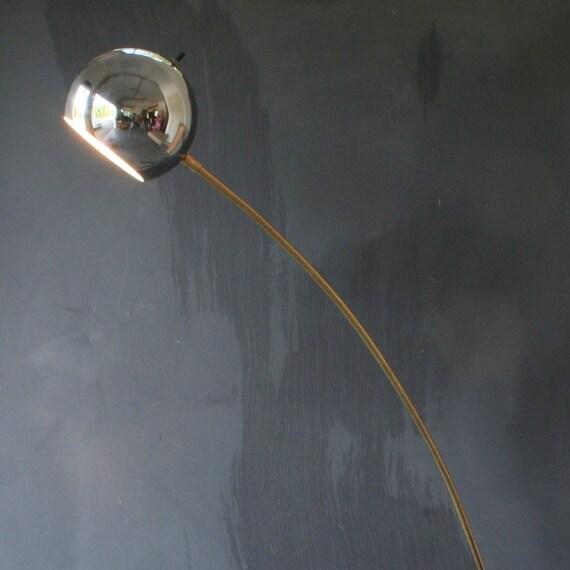 Mid Century Modern Chrome Ball Arc Floor Lamp