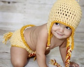 Little Hen Hat and diaper cover set- Made to Order- Any size