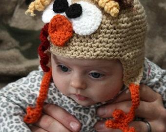 Turkey Hat - Crochet Turkey Hat - Thanksgiving Hat