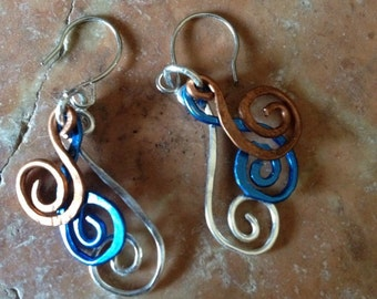 Colorful Spiral Earrings