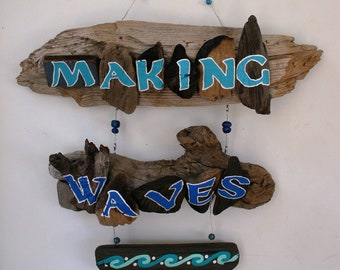 Making Waves Driftwood Art (Made to Order)