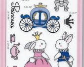 Bunnie Princess and Prince Rubber stamps