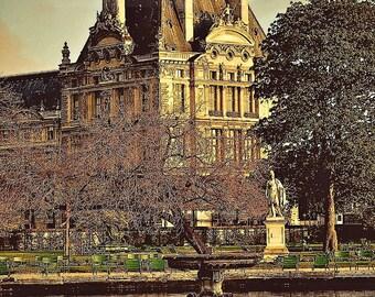 The Louvre from Tuileries Garden,Fine Art PhotographyParis,France,multiple sizes available-parisian,louvre, architecture