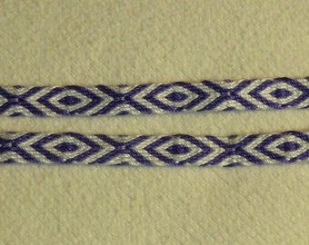 """Emerie -  Hand Woven Tablet/Card Woven Trim (5/16"""" wide)"""