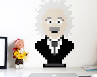 Albert  Wall Decal 8bits Puxxle - The pixel puzzle