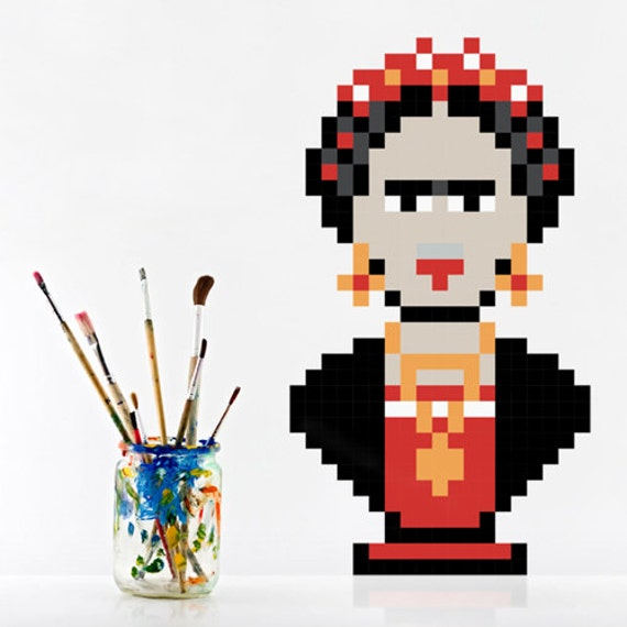 Sale -50% · Frida Wall Decal, Stickers, Vinyl Adhesive 8bits Puxxle