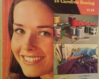 Vintage 1970's The Answer Book McCall's Guide to Carefree Sewing - FREE SHIPPING