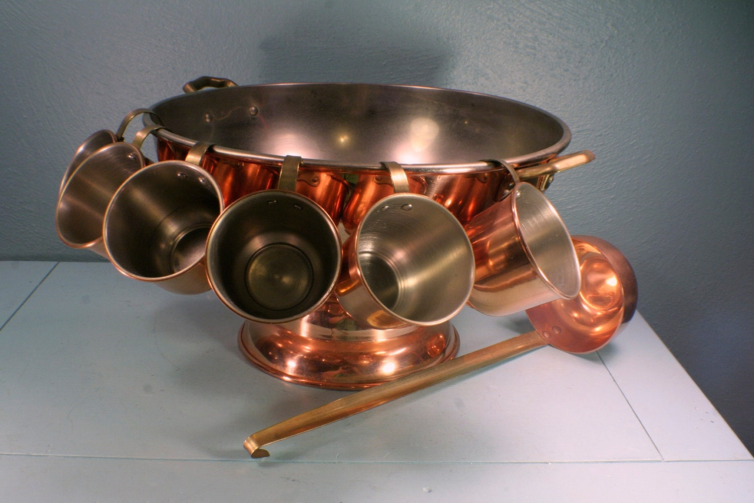copper punch bowl set free shipping. Black Bedroom Furniture Sets. Home Design Ideas