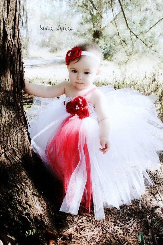 Items Similar To Red And White Tutu Dress Pink Black Flower Girl Pageant Infant Toddler Child Wedding Easter On Etsy