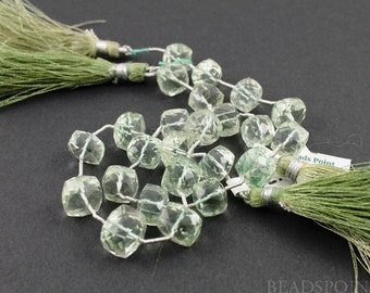 Natural ''NO TREATMENT'' Green Amethyst Micro Faceted Cube Beads, AAA Quality Gemstones  7x7mm , 1 Strand, (GAMmedcube)