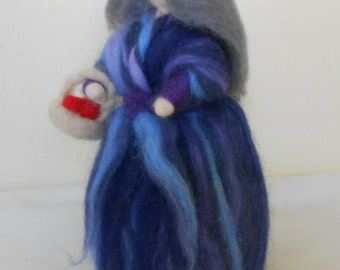 Needle felt Waldorf inspired doll/story telling/snow white witch