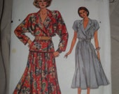 1980's VOGUE Top & Skirt Pattern  Very 80's  Uncut and in Factory Folds
