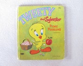 kids book TWEETY and SYLVESTER. little hardbound Picture book.