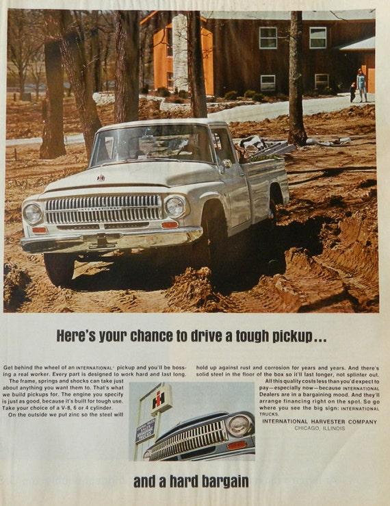 Vintage ih pickup truck ad 1960s international harvester for International harvester wall decor