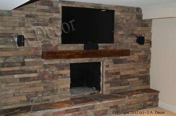Barnwood Mantle Beam 6 X 6 X 48 Mantle Ready To By Iadecor