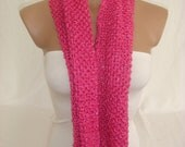 Stock Clearance Sale-60% OFF-WAS 24.90USD-Knitted Lovely Pink Elegant Strechy Scarf by Arzu's Style