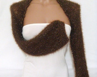 Wedding Shrug Bridal Shrug Brown Shrug Wedding Bolero Bridal Bolero Bridesmaids Gift Long Sleeve White Shrug Weddings Accessories
