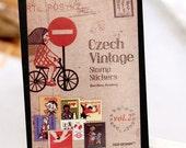 Euro Vintage Stamp Sticker Set - Diary Sticker - Deco Sticker - 16 Sheets - Girl