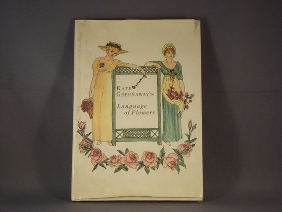 Book Language of Flowers - Kate Greenway - 1978 Edition - Vintage Cottage Decor