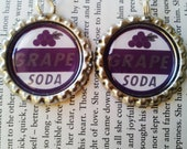 Up Pixar Grape Soda Bottle Cap Dangle Earrings