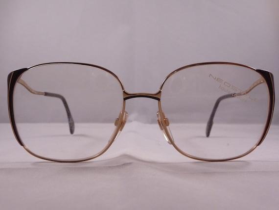 Quirky Eyeglass Frames : Oversized glasses Vintage unusual design eyeglasses 1980s