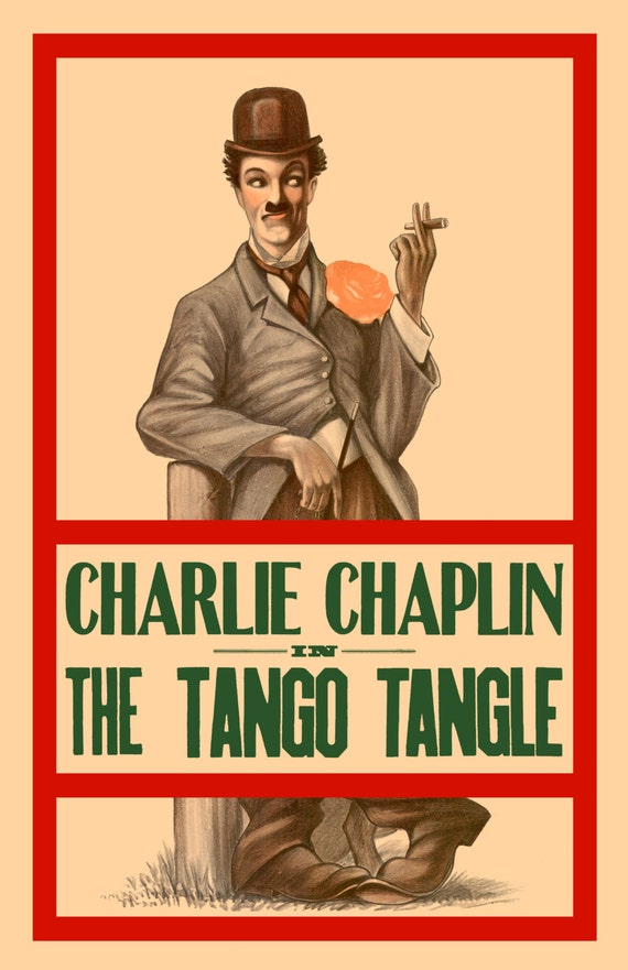 Items similar to Charlie Chaplin in THE TANGO TANGLE Movie ...