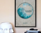 Hydrography: Vintage Inspired Science Graphic Art Print with Shakespeare Quote