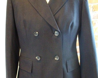 Banana Republic Made in Italy Grey Wool Jacket Size 8