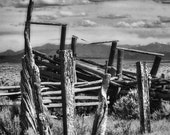 Western Art - Old Corral - Fine Art Photo - Southwest - Home or Office Decor - Taos - Cowboy Art - Rustic - Gift Idea for Men - ForDaGuys